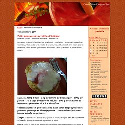 Viennoiserie/boulangerie · Cuisin'hier d'aujourd'hui