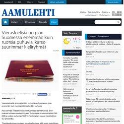 Vieraskielisiä on pian Suomessa enemmän kuin ruotsia puhuvia, katso suurimmat kieliryhmät