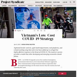 Vietnam's Low-Cost COVID-19 Strategy by Hong Kong Nguyen
