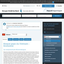 Risque pays du Vietnam : Economie - Objectif Import Export