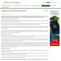 Vietnam's past Educational System