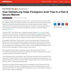 Visa-Vietnam.org helps Foreigners Avail Visa in a Fast & Secure Manner