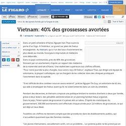 Vietnam: 40% des grossesses avortées