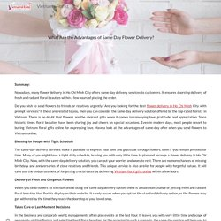 What Are the Advantages of Same Day Flower Delivery?