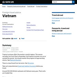 Vietnam travel advice