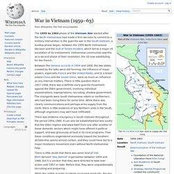 War in Vietnam (1959–63)