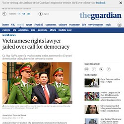 Vietnamese rights lawyer jailed over call for democracy