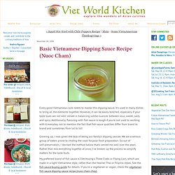 Basic Vietnamese Dipping Sauce Recipe (Nuoc Cham)