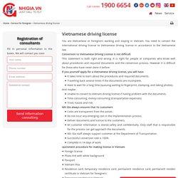 Vietnamese driving license