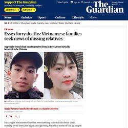 Essex lorry deaths: Vietnamese families seek news of missing relatives
