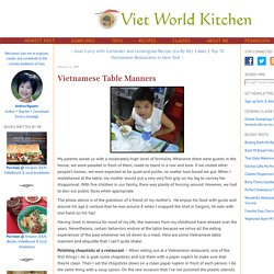 Vietnamese Table Manners