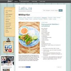 Vietnamesisk fläskfärs i salladsblad / Middagstips ~ Recept