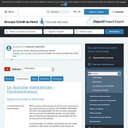 Le marché vietnamien : Consommateur - Objectif Import Export