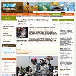IRD - NOV 2013 - Les Vietnamiens manquent de vitamine D et de calcium