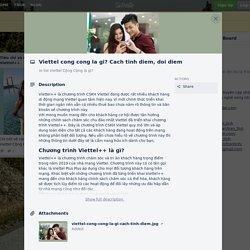 Viettel cong cong la gi? Cach tinh diem, doi diem on Mofficeviettel.com - cập nhật tin tức công nghệ 24h