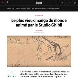Le plus vieux manga du monde animé par le Studio Ghibli - Vu sur le net
