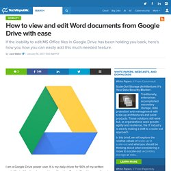 How to view and edit Word documents from Google Drive with ease