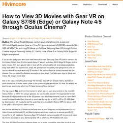 View 3D Movies with Gear VR on Galaxy Note 4/5/S6 (Edge)