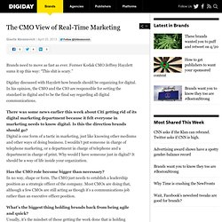 The CMO View of Real-Time Marketing
