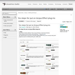 View topic - Six steps for put on Acqua Effect plug-ins