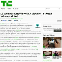 Le Web Has A Room With A Viewdle - Startup Winners Picked