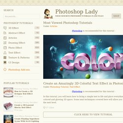 Most Viewed Photoshop Tutorials
