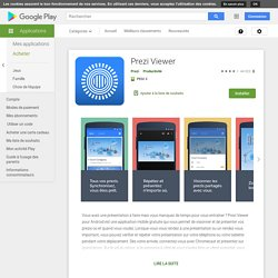 Prezi Viewer – Applications Android sur GooglePlay
