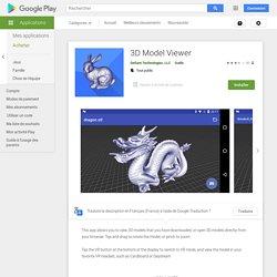 3D Model Viewer – Applications sur GooglePlay