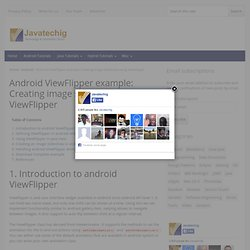 Android ViewFlipper example;Creating image slideshow using ViewFlipper