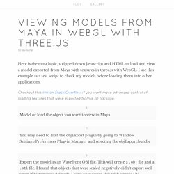 Viewing Models from Maya in WebGL with three.js