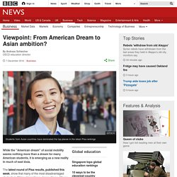 Viewpoint: From American Dream to Asian ambition?