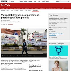 Viewpoint: Egypt's new parliament - posturing without politics