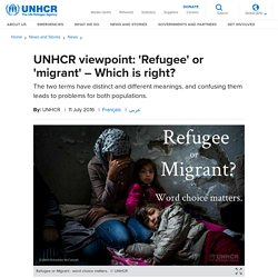 Refugee or migrant