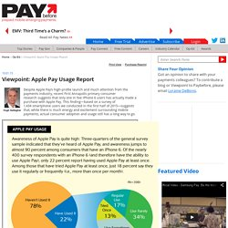 Viewpoint: Apple Pay Usage Report - Paybefore