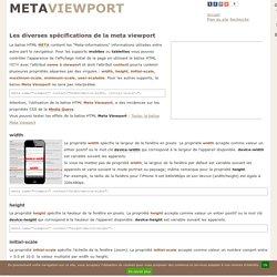 La meta viewport et @viewport pour les mobiles