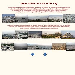 Views of Athens from the hills of the city