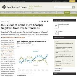 U.S. Views of China Amid Trade War Turn Sharply Negative