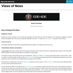 Views of News – Biblicism Institute