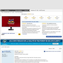 """Avis ViewSonic 27"""" LED - VX2778-smhd : achat/vente Ecran PC sur ldlc.com"""