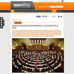 Devoir de vigilance des multinationales : la loi rejetée par le Sénat