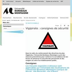 Vigipirate : consignes de sécurité