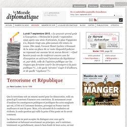 Plan Vigipirate, terrorisme et République, par Henri Leclerc (Le Monde diplomatique, février 1996)