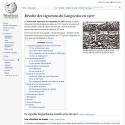 Indignés de 1907 : Révolte (du midi)