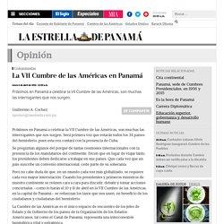La VII Cumbre de las Américas en Panamá