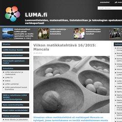 LUMA.fi: Viikon matikkatehtävä 16/2015: Mancala