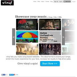 Viinyl - 1 Song. 1 Site. 1 URL.