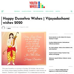 Vijayadashami wishes 2020 - Youthwheel