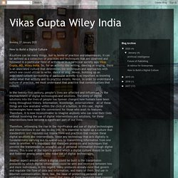 Vikas Gupta Wiley India: How to Build a Digital Culture