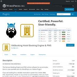 VikBooking Hotel Booking Engine & PMS – WordPress plugin