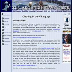 Clothing in the Viking Age